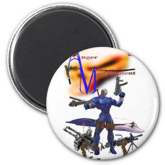 Anger T-Shirt 6 Cm Round Magnet