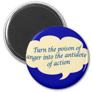 Anger To Action 6 Cm Round Magnet