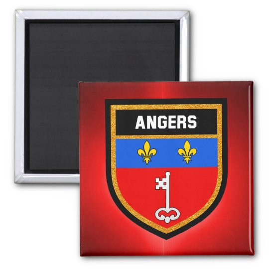 Angers Flag Square Magnet