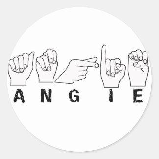 ANGIE FINGER SPELLED ASL STICKER