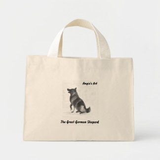 Angie's Art  German Shepard Mini Tote Bag