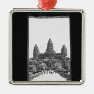 Angkor Cambodia, Angkor Wat Doorway View 2 Christmas Ornament