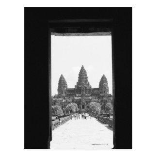 Angkor Cambodia, Angkor Wat Doorway View 2 Postcard