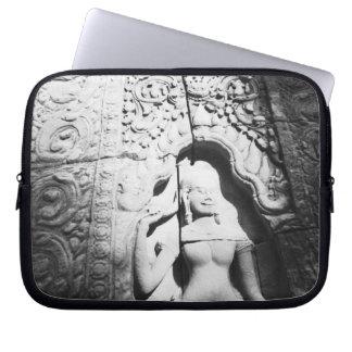 Angkor Cambodia, Apsara Carving The Bayon Laptop Sleeve