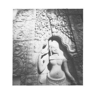 Angkor Cambodia, Apsara Carving The Bayon Notepad