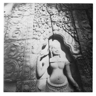 Angkor Cambodia, Apsara Carving The Bayon Tile