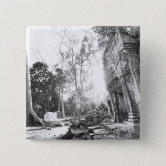 Angkor Cambodia, Details Ta Prohm 15 Cm Square Badge