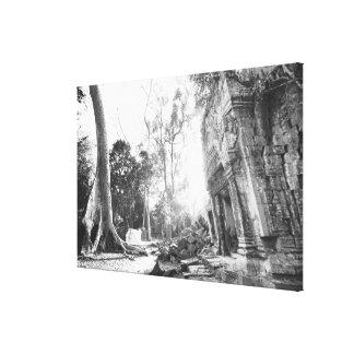 Angkor Cambodia, Details Ta Prohm Canvas Print