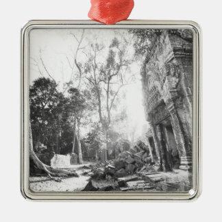 Angkor Cambodia, Details Ta Prohm Christmas Ornament