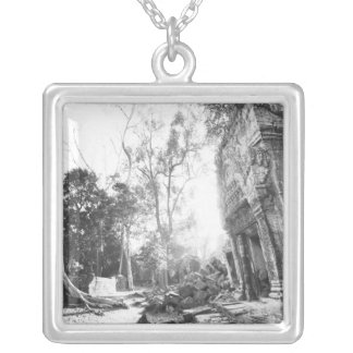 Angkor Cambodia, Details Ta Prohm Silver Plated Necklace