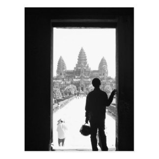 Angkor Cambodia, Doorway & Person Angkor Wat Postcard
