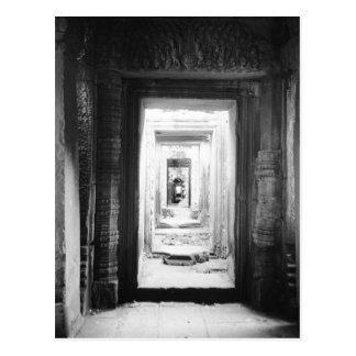 Angkor Cambodia, Doorways Preah Khan 2 Postcard