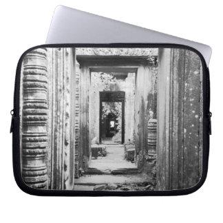 Angkor Cambodia, Doorways Preah Khan Laptop Sleeve