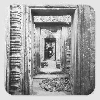 Angkor Cambodia, Doorways Preah Khan Square Sticker