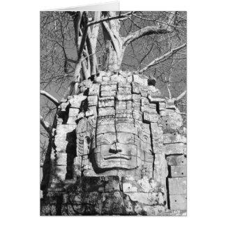 Angkor Cambodia, Head Ta Som Temple Card