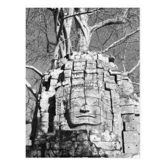 Angkor Cambodia Head Ta Som Temple Postcard