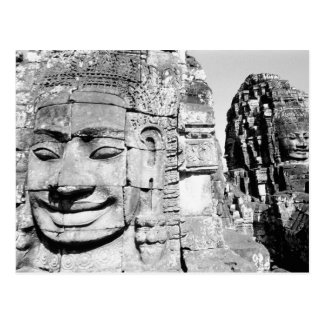 Angkor Cambodia, Heads The Bayon Postcard