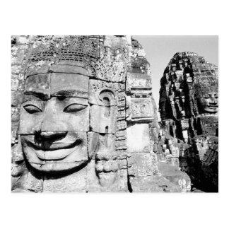 Angkor Cambodia, Heads The Bayon Postcard