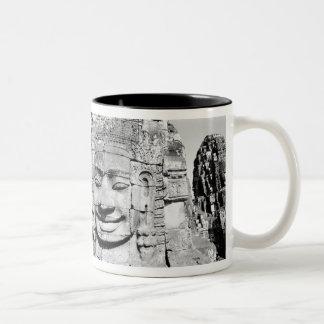 Angkor Cambodia, Heads The Bayon Two-Tone Coffee Mug