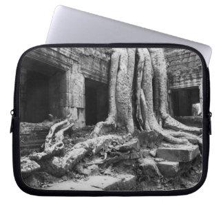 Angkor Cambodia, Ta Prohm Tree Laptop Sleeve