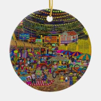 'Angkor Night Market' Christmas Ornament