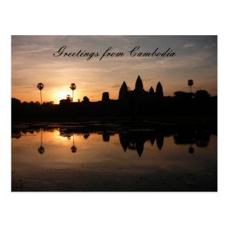 angkor sun reflect post cards