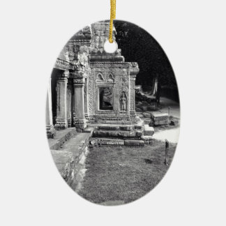 Angkor Wat Ceramic Oval Decoration