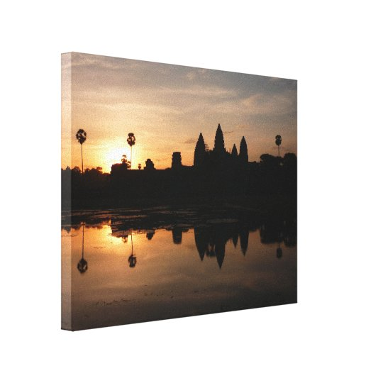 angkor wat golden canvas