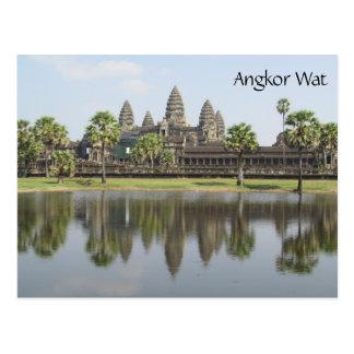 angkor wat reflected postcard