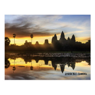 Angkor Wat Reflection Postcard