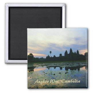 Angkor Wat Silhouette Colours Magnet
