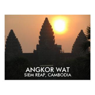 Angkor Wat Temple Sunrise Siem Reap Cambodia Asia Postcard