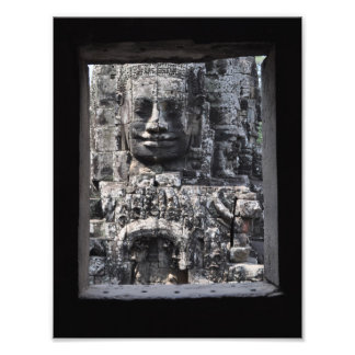 Angkor Wat thorough a ruin window Photograph