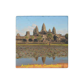 Angkor what Cambodia stone magnet