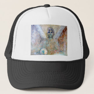 Angle with spheres trucker hat