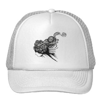 Angled Bleeding Face Trucker Hats