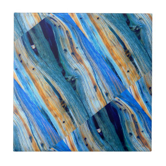 angled rustic blue wood boards tile