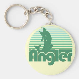 Angler Basic Round Button Key Ring