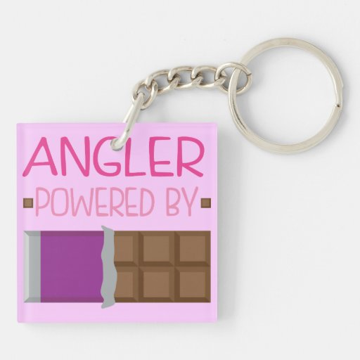 Angler Chocolate Gift for Woman Square Acrylic Keychains