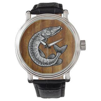 Angler clock watch