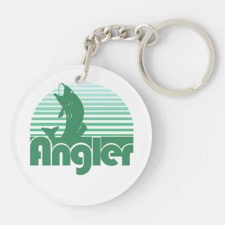 Angler Double-Sided Round Acrylic Key Ring