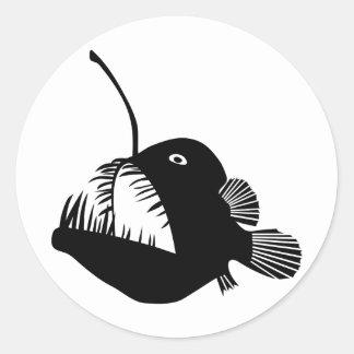 angler fish angler fish frogfish fishing deep sea round sticker