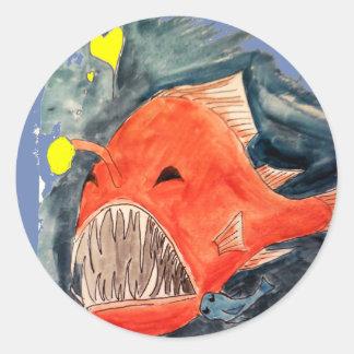 Angler Fish Love Sticker