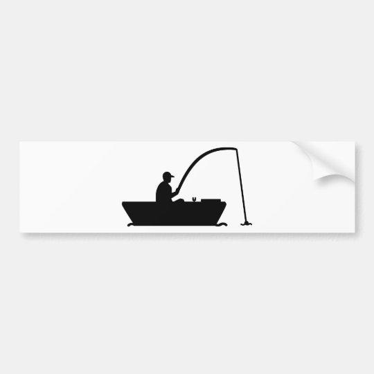 Angler Fisher boat Bumper Sticker