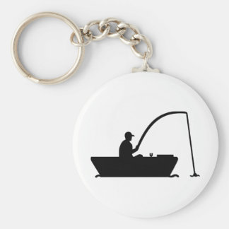 Angler Fisher boat Keychains
