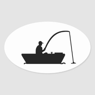 Angler Fisher boat Stickers