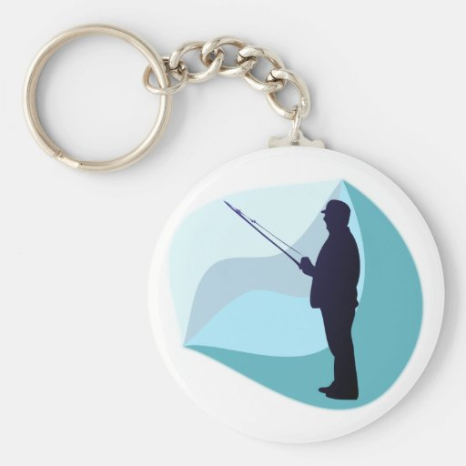 Angler Fisher Key Chains