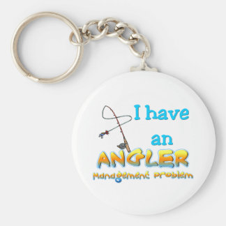 Angler Management Problem T-shirts and Gifts. Basic Round Button Key Ring