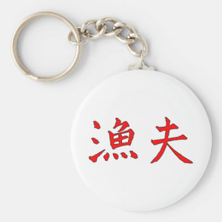 Angler Red-Black Chinese Characters The MUSEUM Key Chain