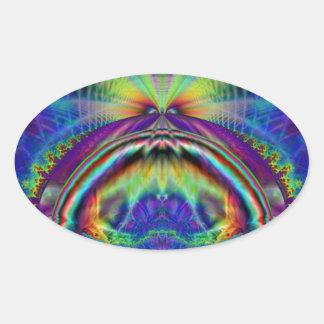 Angler Oval Sticker